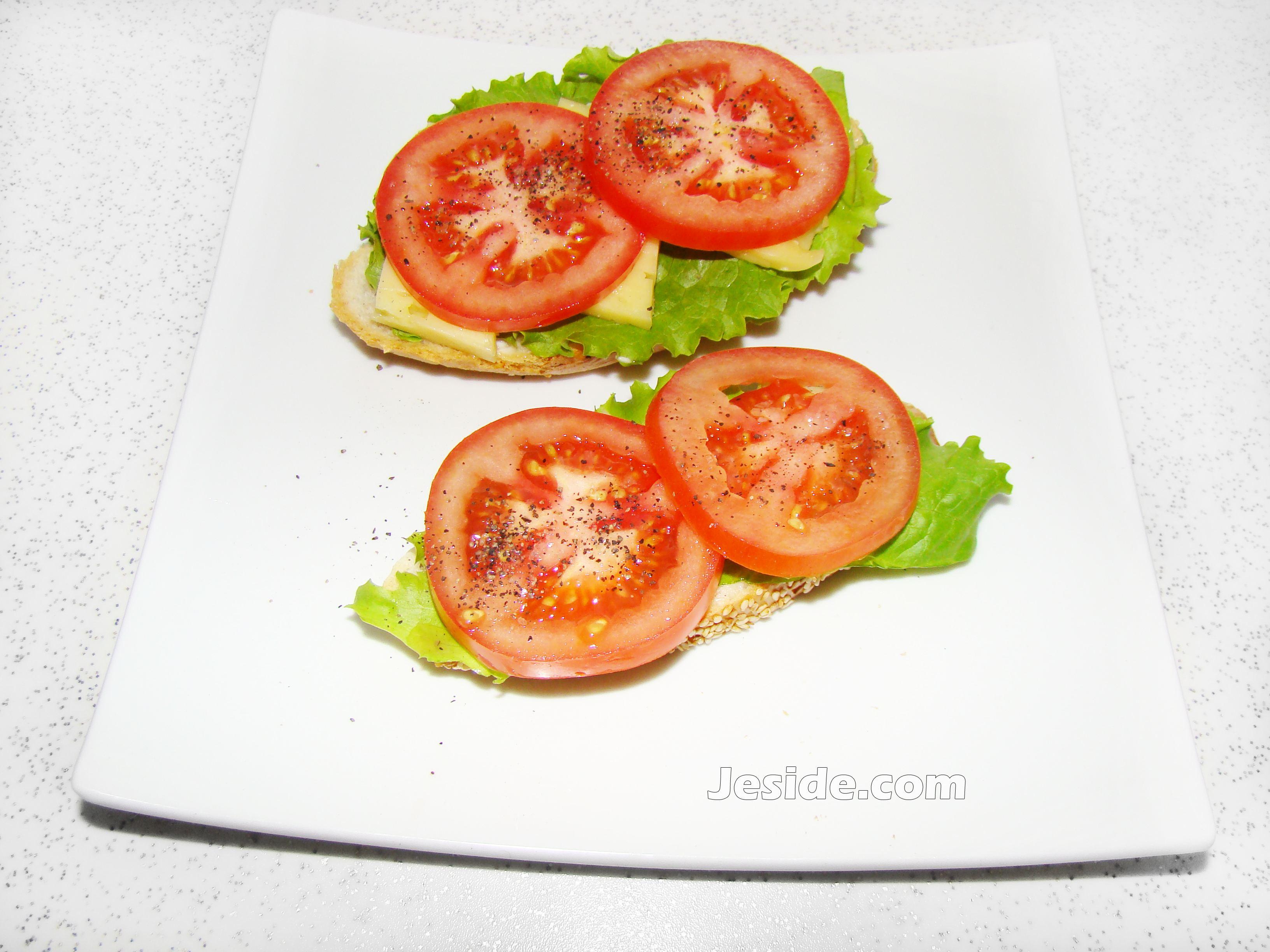 бутерброды с семгой и листьями салата рецепт фото