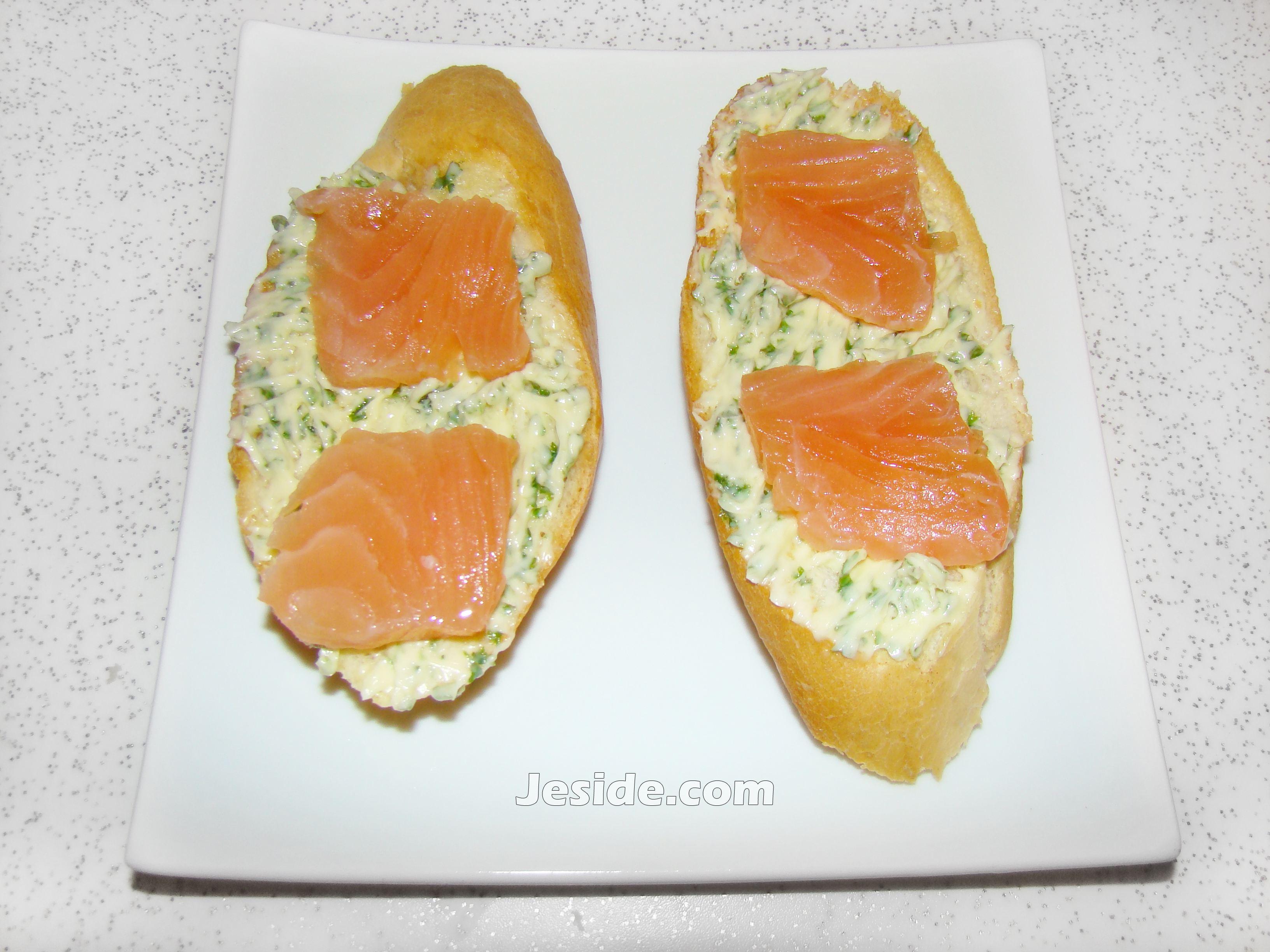Бутерброды с семгой фото рецепт пошаговый
