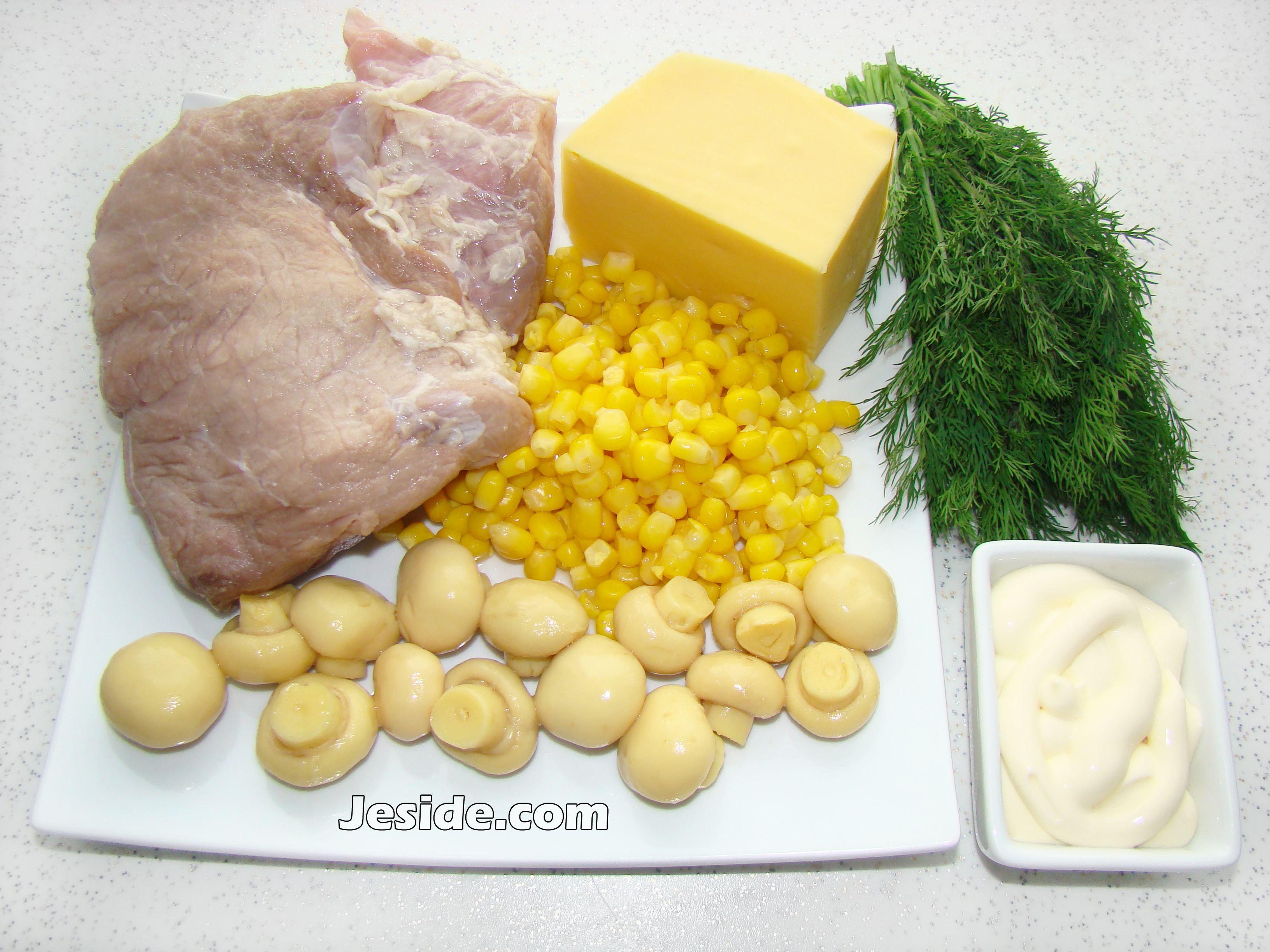 салат грибная поляна рецепт с ананасами