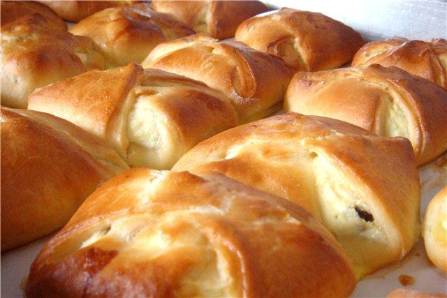 чайные булочки с творог рецепт