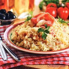 Рис, рис по-сантадерски, хамон, бульон